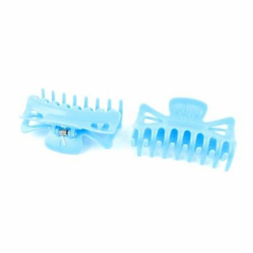 Blue Plastic Hair Jaw Clip Claw Clamp Hairclip Hairpin 2Pcs