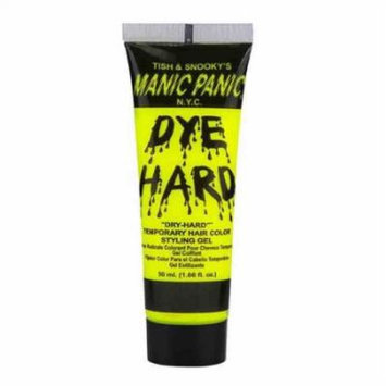 (3 Pack) MANIC PANIC Dye Hard Temporary Hair Color Styling Gel - Electric Banana