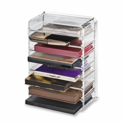 Acrylic Palette Organizer (Small Sized Palettes) & Beauty Care Holder Provides 8+ Space Storage byAlegory Makeup Organizer