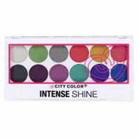 (3 Pack) CITY COLOR Intense Shine Eye Shadow Palette - Metallic