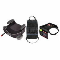 Graco Affix Backless Booster Car Seat with Snack Tray & Backseat Organizer, Davenport