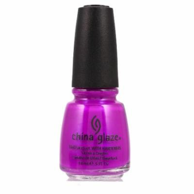 (3 Pack) CHINA GLAZE Nail Lacquer with Nail Hardner - Purple Panic Neon