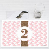 Two Much Fun - Girl - 2nd Birthday Party Placemats - Set of 12