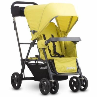 Caboose Ultralight Graphite Stand-On Stroller - Citron