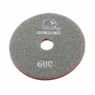 10cm Diameter 5mm Thickness 600 Grit Marble Diamond Polishing Pad Gray