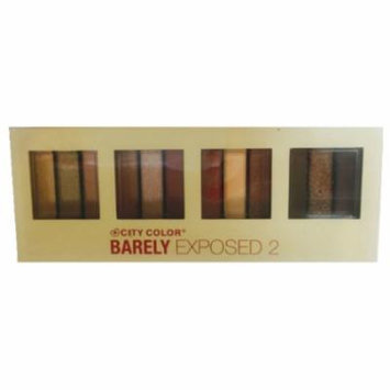 (6 Pack) CITY COLOR Barely Exposed Eye Shadow Palette 2 - Day/Night 12 Colors