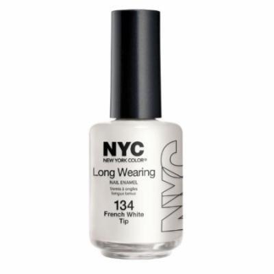 (3 Pack) NYC Long Wearing Nail Enamel - French White Tip