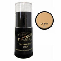 (3 Pack) mehron CreamBlend Stick - Light Buff