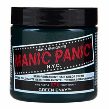 (3 Pack) MANIC PANIC Cream Formula Semi-Permanent Hair Color - Green Envy