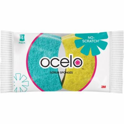 Ocelo Scrub Sponges, 4 count