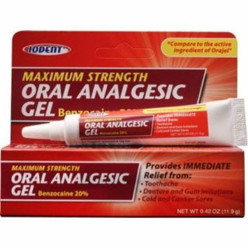 Iodent Max. Strength Oral Pain Relieving Gel, Bulk Case of 24