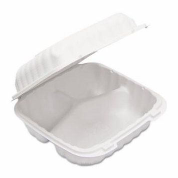 EarthChoice SmartLock Hinged Lid Containers, White, 22 oz, 200/Carton