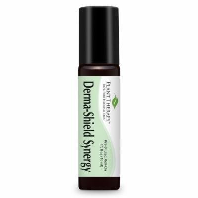 Derma Shield (Anti Fungal) Synergy Pre-Diluted Essential Oil Roll-On 10 ml (1/3 fl oz). Ready to use! (Blend of: Tea Tree, Lavender, Lemon, Cedarwood, Egyptian Myrrh, Tagetes and Oregano)