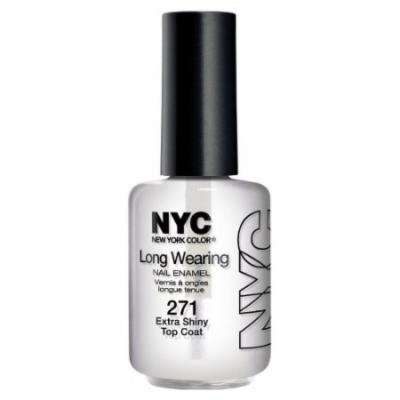 (3 Pack) NYC Long Wearing Nail Enamel - Extra Shiny Top Coat
