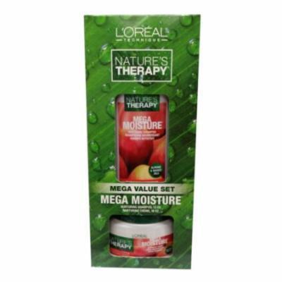 (3 Pack) L'OREAL Nature's Therapy Mega Moisture Nurturing Creme and Shampoo Mega Value Set - Value Set