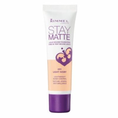 (6 Pack) RIMMEL LONDON Stay Matte Liquid Mousse Foundation - Light Ivory