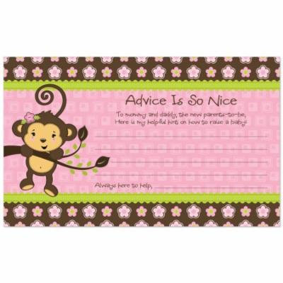 Monkey Girl - Party Advice Cards - 18 Count
