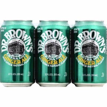 Dr Browns Soda, Extra Dry Ginger Ale, Caffeine Free