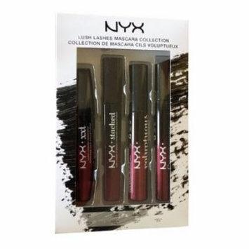 (6 Pack) NYX Lush Lashes Mascara Collection - 4 Mascaras