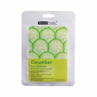 (6 Pack) BEAUTY TREATS Facial Mask Refreshing Vitamin C Solution - Cucumber