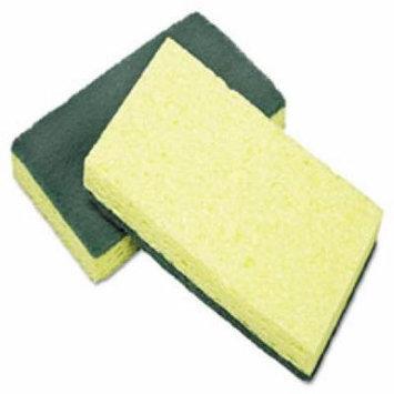 7920015664130 Cellulose Scrubber Sponge, 3 1/4 X 6 1/4, Yellow/Green,