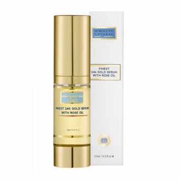 Moroccan Natural Finest 24K Gold Serum with Rose Oil, 15 ml