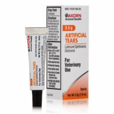 Artificial Tears Lubricant Ophthalmic Ointment - 1/8 oz (3.5 Grams) by Akorn