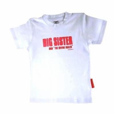 Silly Souls BS-1-4T Big Sister- Aka Divine Ruler- 4T Tee- White