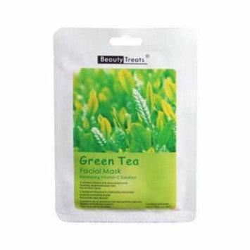 (3 Pack) BEAUTY TREATS Facial Mask Refreshing Vitamin C Solution - Green Tea