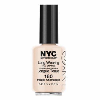 (3 Pack) NYC Long Wearing Nail Enamel - Poppin' Champagne
