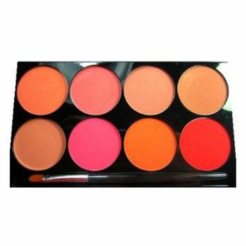 (3 Pack) mehron Cheek Powder 8 Color Palette - 8 Colors