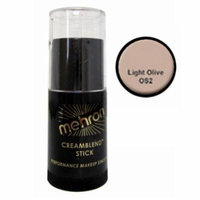 (3 Pack) mehron CreamBlend Stick - Light Olive