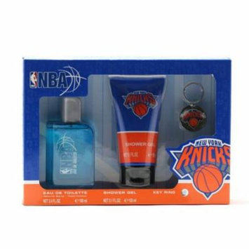 Air-Val International NBA Knicks 3.4 oz. Sp/5.1 oz. Shower Gel/Key Ring Size: Set