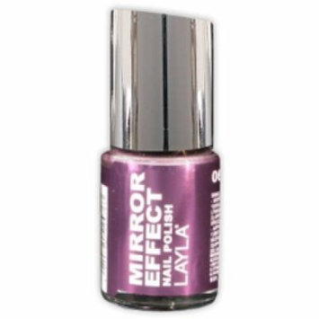 Layla Mirror Effect Nail Polish, #6 Red Hot