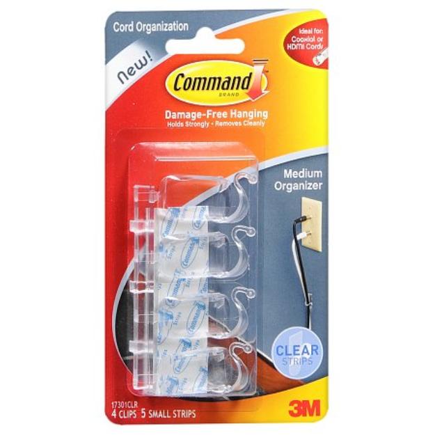 Command Medium Cord Organizer Clips