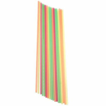 Extra Long Disposable Multicolored Straws - Case of 500
