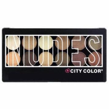 City Color Nudes Eyeshadow Palette, 0.3 oz