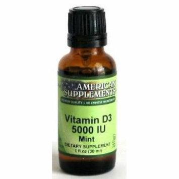 Vitamin D3 5000 Mint American Supplements 1 oz Liquid