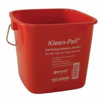 San Jamar - KP97RD - 3 qt Kleen-Pail® Red Sanitizer Bucket
