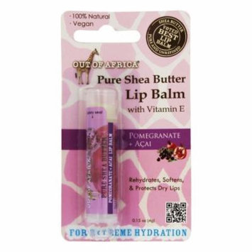 Out Of Africa - Pure Shea Butter Lip Balm Pomegranate + Acai - 0.15 oz.