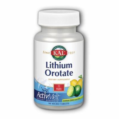 Lithium Orotate ActivMelt Lemon Lime Kal 90 Lozenge