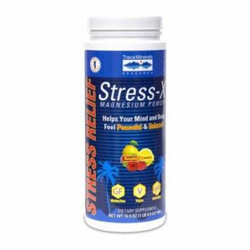 Stress-X Magnesium Powder Rasp-Lemon - 100 servings Trace Minerals 16.9 oz Powder