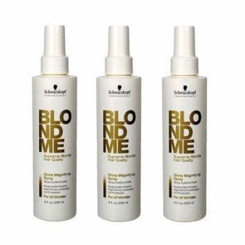 Schwarzkopf Professional BlondMe Shine Magnifying Spray 6.8oz/200ml (3-Pack)