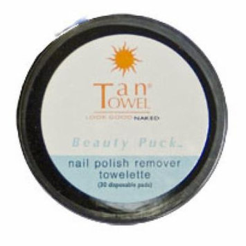TanTowel Nail Polish Remover Towelettes Beauty Puck