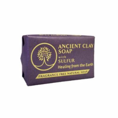 Ancient Clay Soap with Sulfur Fragrance Free Zion Health 6 oz Bar Soap