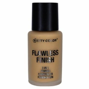 CITY COLOR Flawless Finish 3 In 1 Primer, Concealer Foundation - Tan