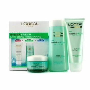 L'Oréal Paris Hydrafresh Anti-Shine Programme Icy Toner + Foam + Icy Gel