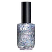 (3 Pack) NYC Long Wearing Nail Enamel - Starry Silver Glitter