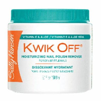(6 Pack) SALLY HANSEN Kwik Off Moisturizing Nail Color Remover - Moisturizing Nail