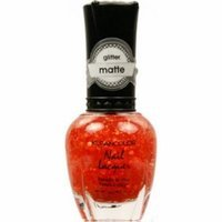 (6 Pack) KLEANCOLOR Glitter Matte Nail Lacquer - Poppy Field
